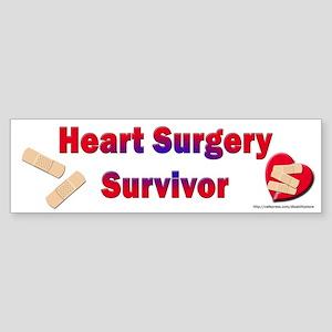Heart Surgery Surviver Bumper Sticker