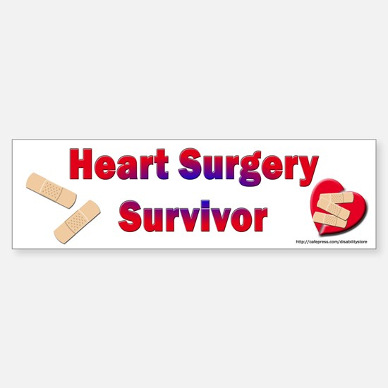 Heart Surgery Surviver Bumper Bumper Bumper Sticker