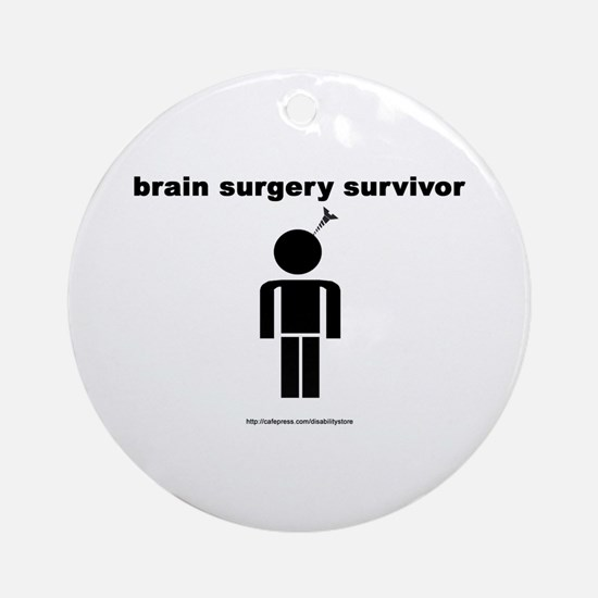 Brain Surgery Survivor Ornament (Round)