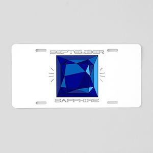 September Sapphire Aluminum License Plate