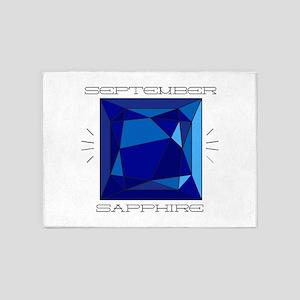 September Sapphire 5'x7'Area Rug