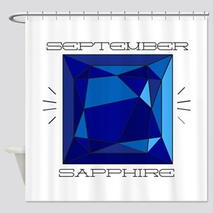 September Sapphire Shower Curtain