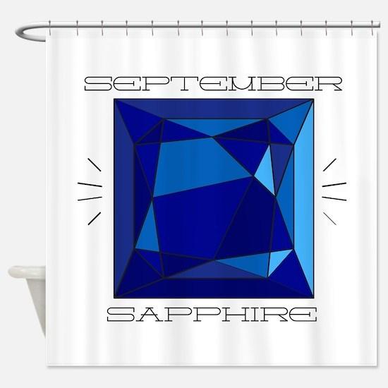 September Sapphire Shower Curtain