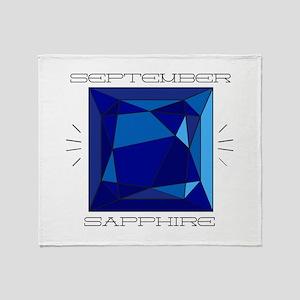 September Sapphire Throw Blanket