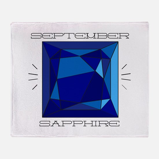 September Sapphire Throw Blanket