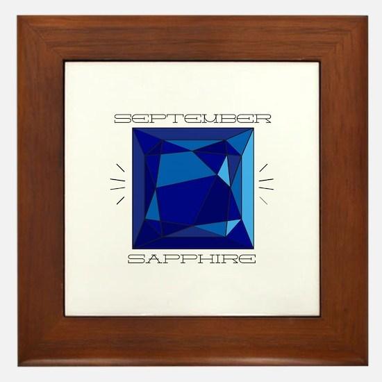 September Sapphire Framed Tile