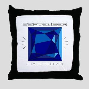 September Sapphire Throw Pillow