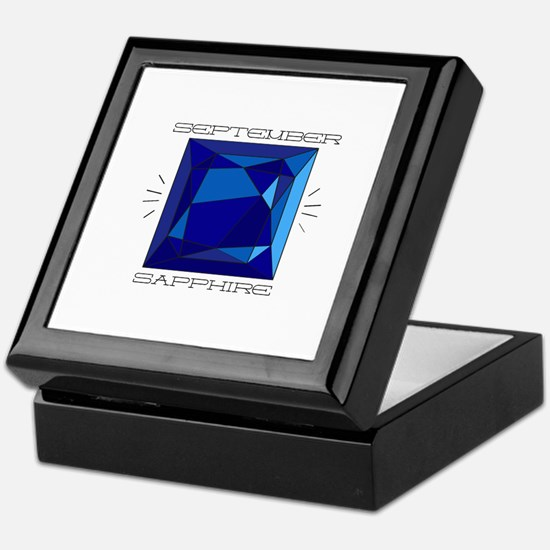 September Sapphire Keepsake Box
