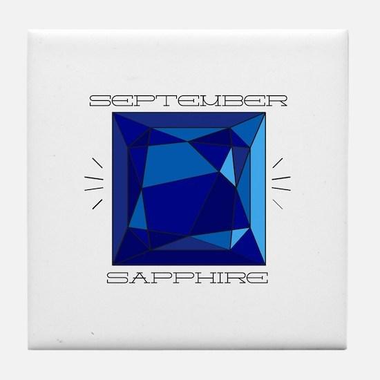 September Sapphire Tile Coaster