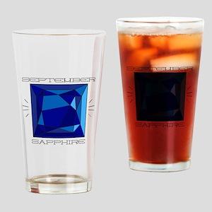 September Sapphire Drinking Glass