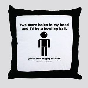 Two Holes Short of... Throw Pillow