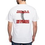 No Backbone Anti-Liberal White T-Shirt
