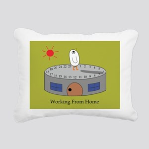 Working From Home Rectangular Canvas Pillow