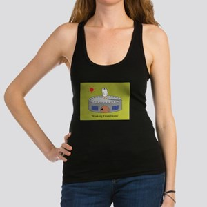 Working From Home Racerback Tank Top