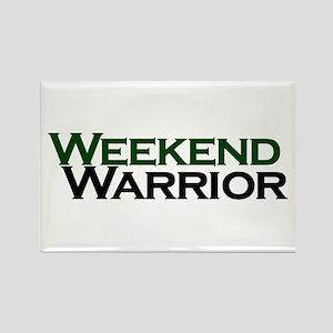 Weekend Warrior Rectangle Magnet