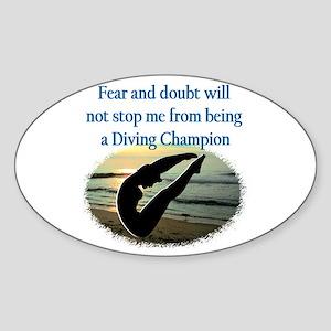 INSPIRING DIVER Sticker (Oval)