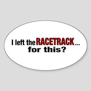 Racetrack Oval Sticker