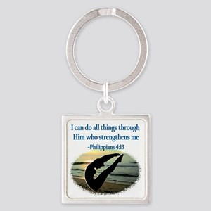 BLESSED DIVER Square Keychain