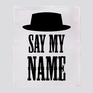 Heisenberg Say My Name Throw Blanket