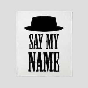 Heisenberg Say My Name Throw Blanket