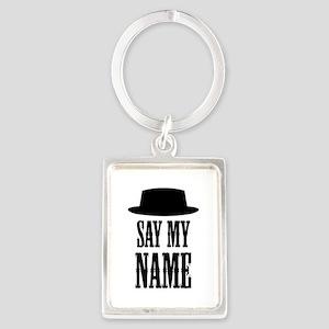 Heisenberg Say My Name Portrait Keychain