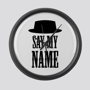 Heisenberg Say My Name Large Wall Clock