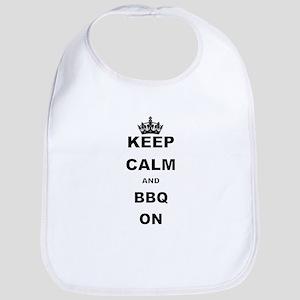 KEEP CALM AND BBQ ON Bib