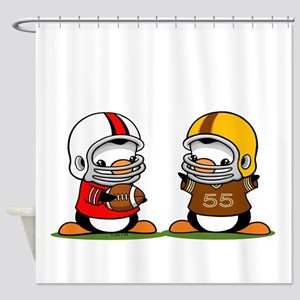 Football Penguins Shower Curtain