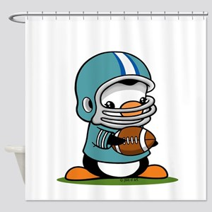 Football Penguin Shower Curtain