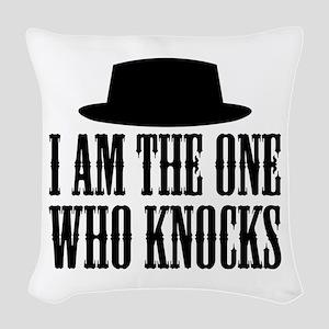Heisenberg Knocks Woven Throw Pillow