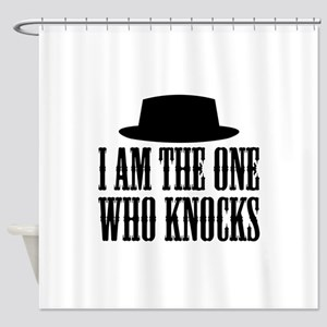 Heisenberg Knocks Shower Curtain