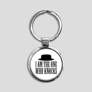 Heisenberg Knocks Round Keychain