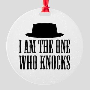 Heisenberg Knocks Round Ornament