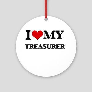 I love my Treasurer Ornament (Round)