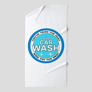 A1A Car Wash Beach Towel