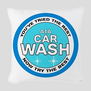 A1A Car Wash Woven Throw Pillow