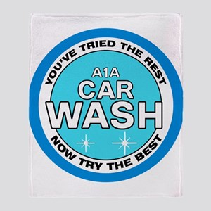 A1A Car Wash Throw Blanket