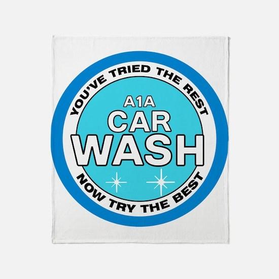 A1A Car Wash Throw Blanket