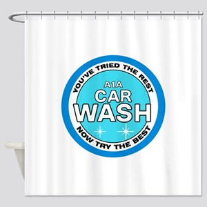 A1A Car Wash Shower Curtain