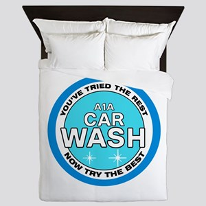 A1A Car Wash Queen Duvet