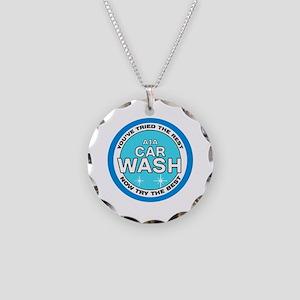 A1A Car Wash Necklace Circle Charm