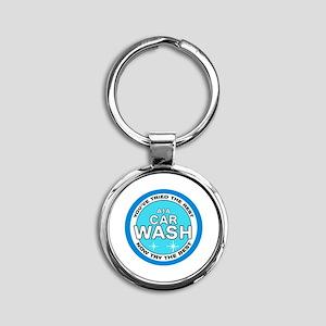 A1A Car Wash Round Keychain