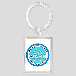 A1A Car Wash Portrait Keychain
