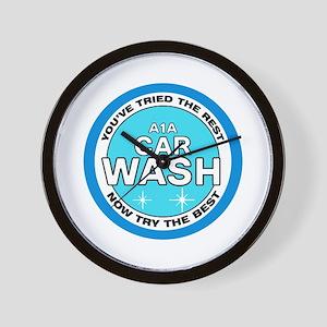 A1A Car Wash Wall Clock