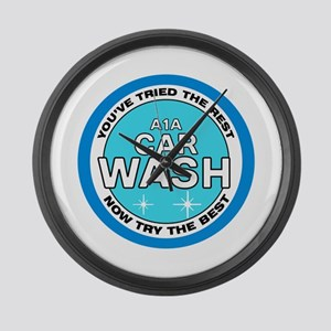 A1A Car Wash Large Wall Clock