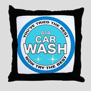 A1A Car Wash Throw Pillow