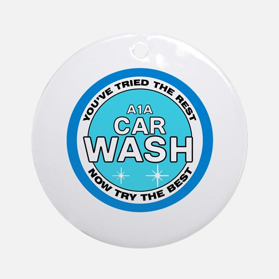 A1A Car Wash Ornament (Round)