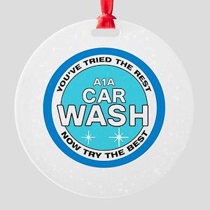 A1A Car Wash Round Ornament