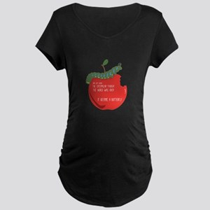 Caterpillar Apple Maternity T-Shirt