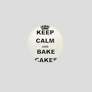 KEEP CALM AND BAKE CAKES Mini Button
